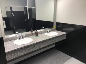 Clean bathroom sink - Train Hard Fitness 8180 Oswego Rd. Liverpool, NY 13090 315-409-4764